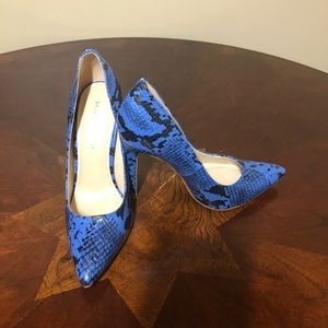 Brista Blue Snakeskin Shoe